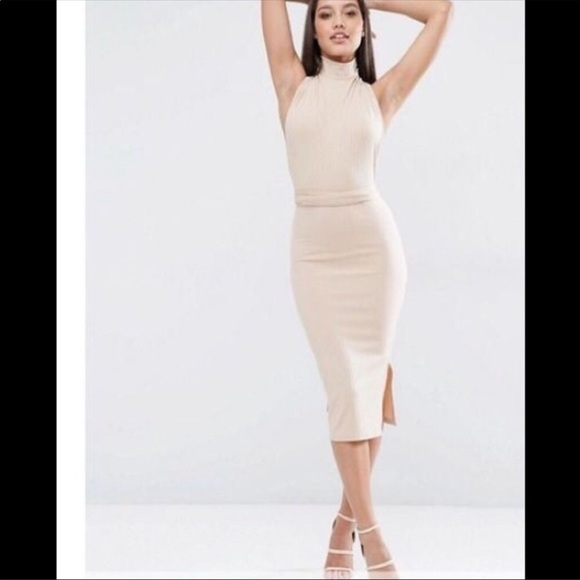 ad9699b4da7 ASOS Nude Multiway Midi Dress 🙌🏼